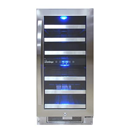 Vinotemp VNTVT-28-2Z-SSDST 28-Bottle Dual-Zone Connoisseur Series