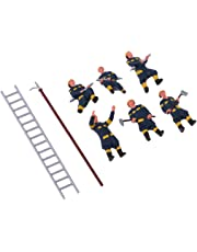 MagiDeal 6X Fireman Firefighter Painted Model People Figures HO for Layout or Diorama