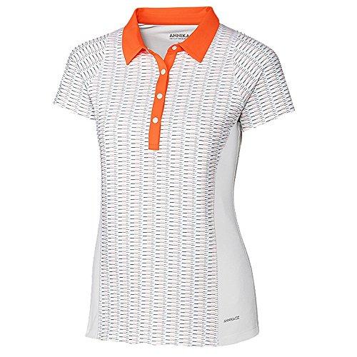 Cutter and Buck Annika Cap Sleeve Jenna Golf Polo 2017 Women White/Juice -