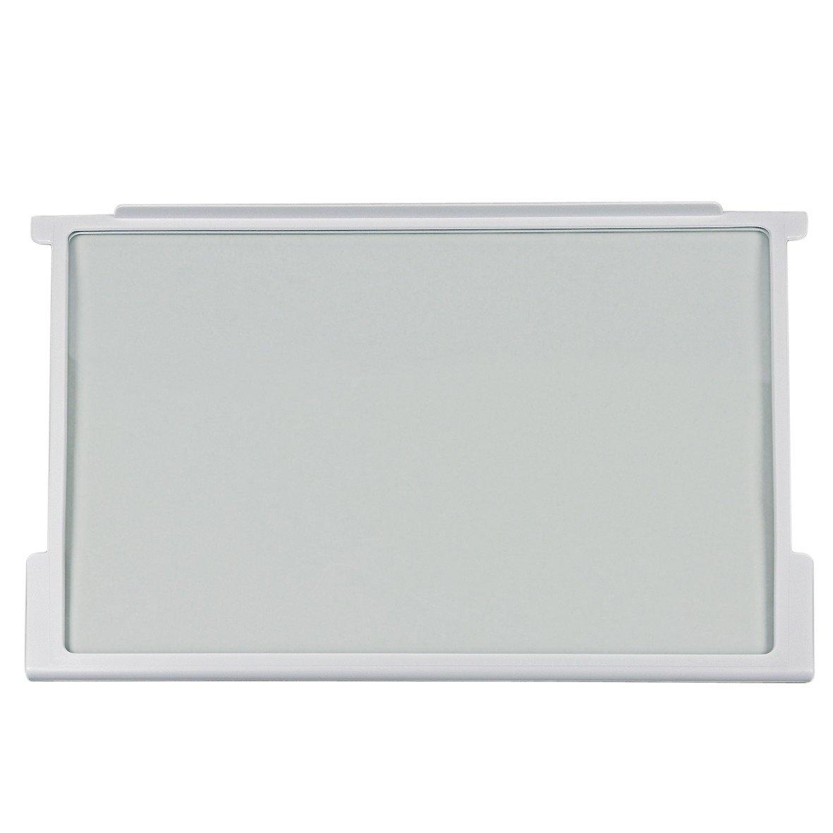 HZI2926 HZI2921 HS2226 HS1826 HI2226 HI1826 HI1526 G3000200 K/ühlschrank Gorenje 163336 ORIGINAL Glasplatte Scheibe Abdeckplatte Glasboden mit Halteleisten f/ürs Lebensmittelfach 465x300x7mm z.T