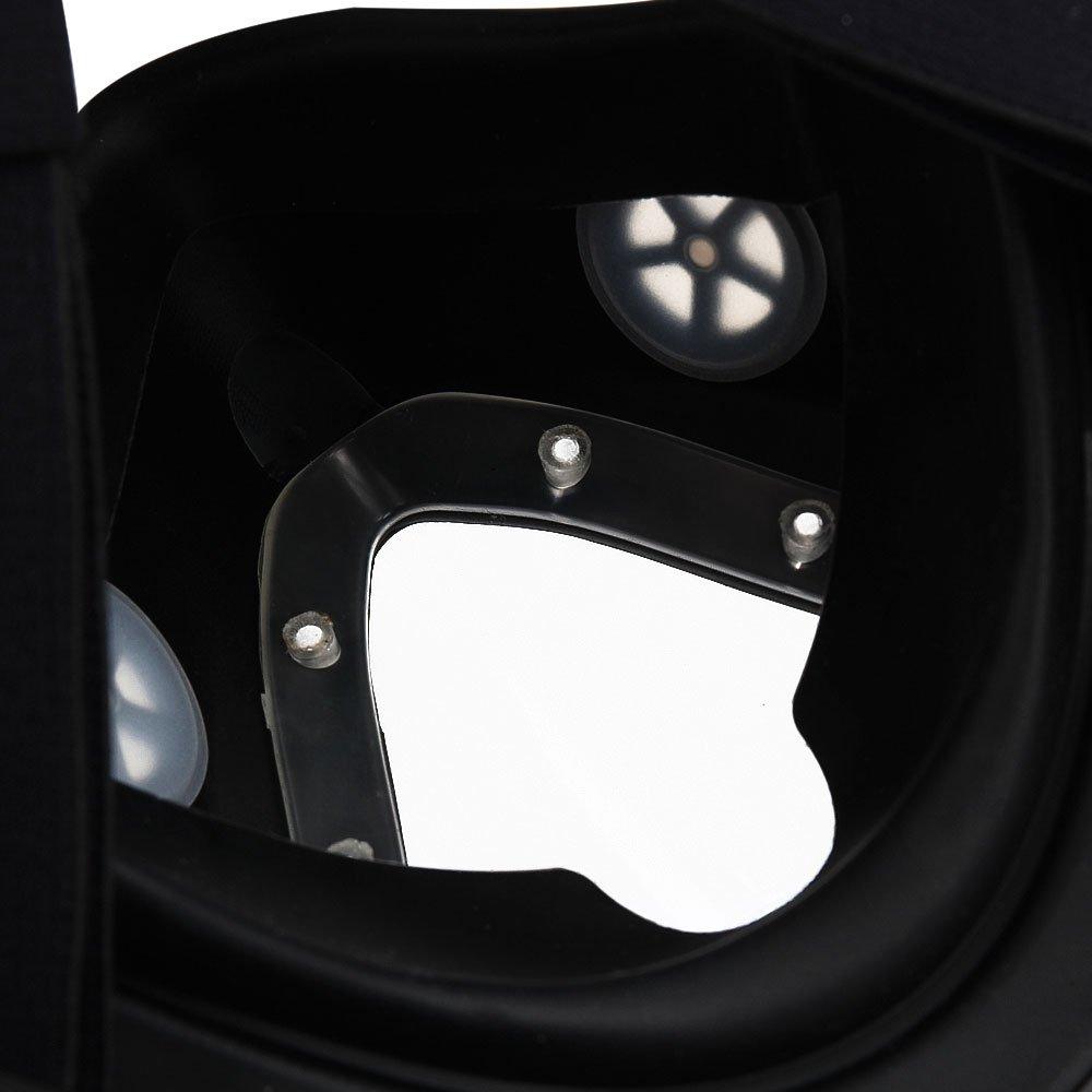 Máscara de snorkel vista completa 180 grado Full Face snorkel mascarillas de buceo Mascara para adultos y niños buceo de seguridad (S(Inner17*13,diámetro ...