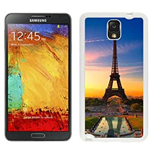New Beautiful Custom Designed Cover Case For Samsung Galaxy Note 3 N900A N900V N900P N900T With Sunset Effiel Tower (2) Phone Case