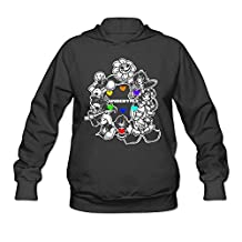 YQUE Women's Undertale Video Game Role Hoodies Hoodie Black