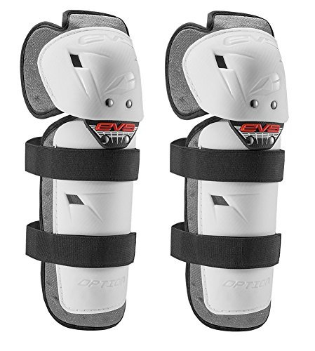 EVS 2016 Option Youth Knee Guard Off-Road Motorcycle Body Armor - White / One Size by EVS - Sport Motorcycle Option Evs