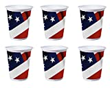 American Valor Patriotic Flag 16 Ounce Cups - Pack of 48