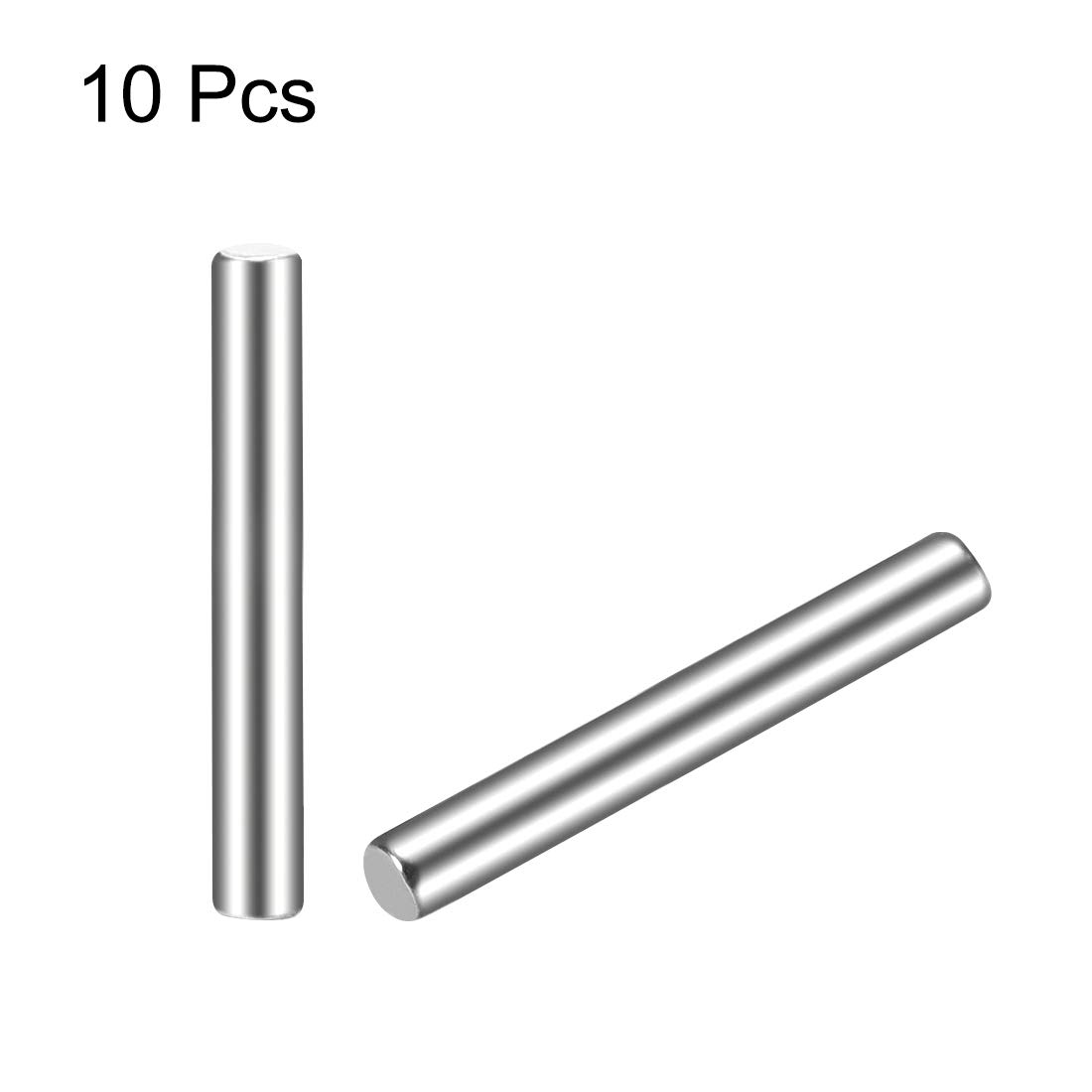 uxcell 10Pcs 1.5mm x 16mm Dowel Pin 304 Stainless Steel Cylindrical Shelf Support Pin Fasten Elements Silver Tone