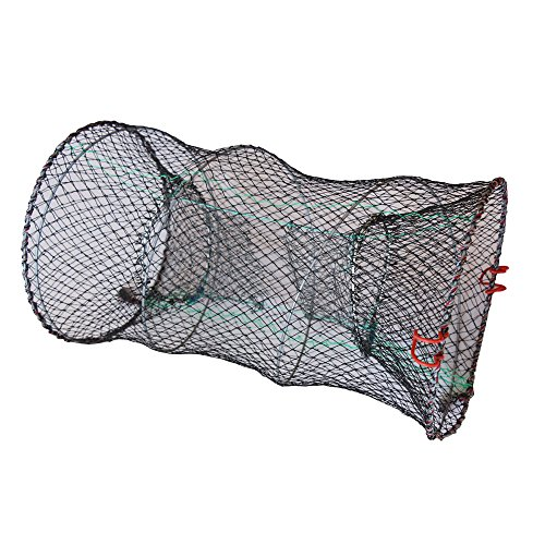 Collapsible Crab Traps (Foldable Elastic Automatic Fishing Net Collapsible Crab Trap Cast Net for Crawfish Minnows Bass Crawdads Lobster Shrimp (11.81x23.62inch net))