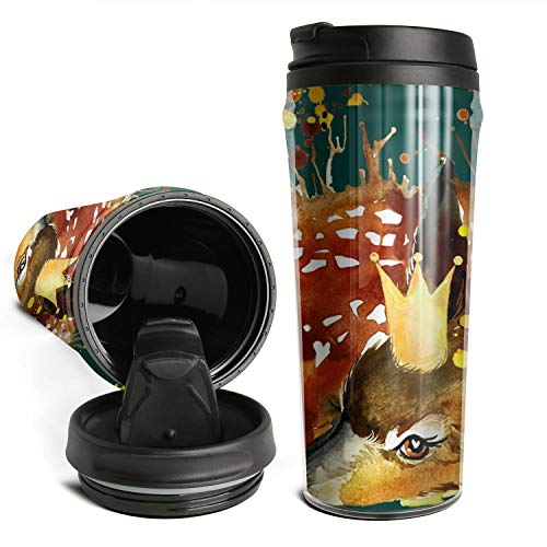 Thano Whitetail Deer Laying Tumbler Travel Mug Funny Insulated Tumbler with Lid Personalized Plastic Tumblers 16 Oz Clear Tumbler Double Wall Water Tumbler Cute Water Bottle