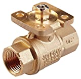 Johnson Controls VG1245DP Stainless Steel NPT Threaded End Connection Two-Way Ball Valves, 18.7 Cv Port, 1-1/4'' Size