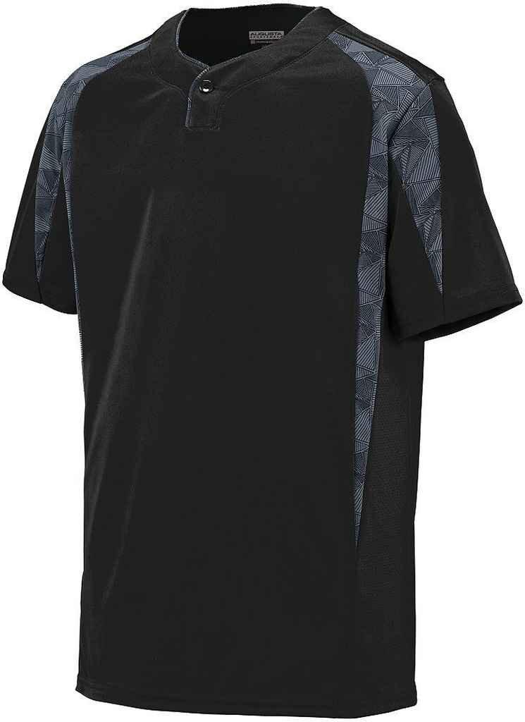 Augusta Sportswearメンズフライボール野球ジャージー B00P53TGHU XL|Black/Graphite/Black Print Black/Graphite/Black Print XL