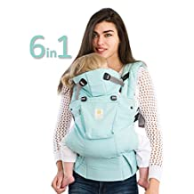 SIX-Position, 360° Ergonomic Baby & Child Carrier by LILLEbaby - The COMPLETE Organic (Sea Glass Green)