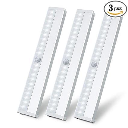 Superieur LED Motion Sensor Closet Light, Wireless Motion Sensing Under Cabinet Lights,  USB Rechargeable Magnetic
