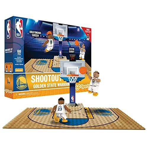 OYO NBA Golden State Warriors Display Blocks Shootout Set, Small, No Color by OYO