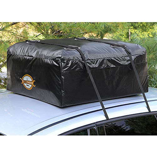 Touring Van - COOCHEER Car Roof Carrier- Waterproof Universal Soft Rooftop Bag Luggage Cargo Carriers for Car with Racks,Travel Touring,Cars,Vans, Suvs (15 Cubic Feet)