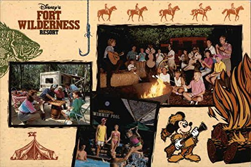 ness Resort Original Vintage Postcard (Disney Fort Wilderness Resort)