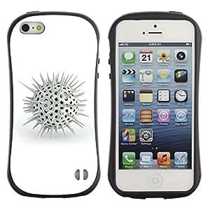 Suave TPU GEL Carcasa Funda Silicona Blando Estuche Caso de protección (para) Apple Iphone 5 / 5S / CECELL Phone case / / White Spikes /