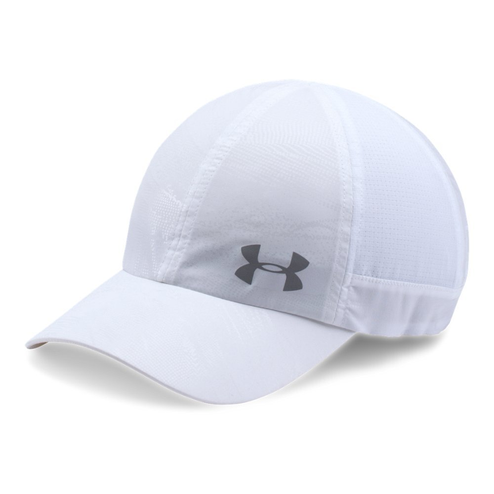 Under Armour Women's Fly by ArmourVent Cap, White (101)/Silver, One Size by Under Armour (Image #1)