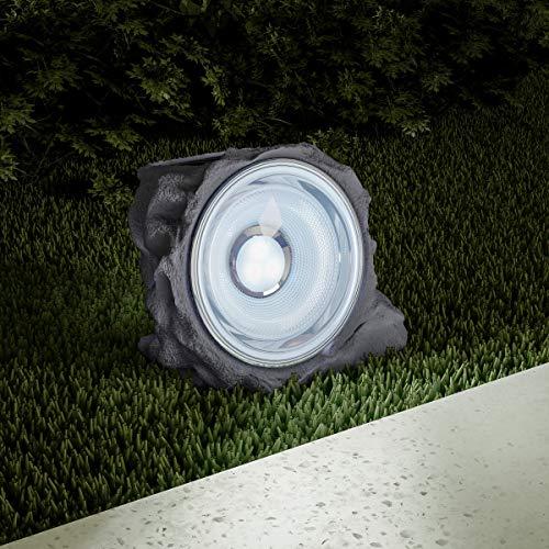 Pure Garden 50-LG1002 Solar Powered Rock Lights, Set of 4-4.3