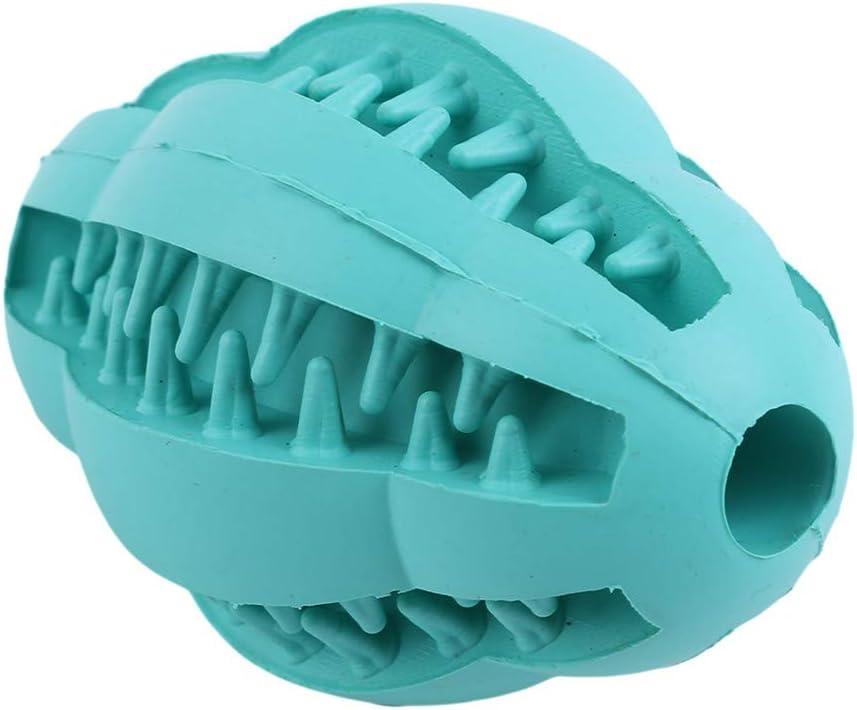 LWANFEI Pet Chew Toy Z/ähne Reinigung Puzzle Spielzeug Leck Lebensmittel Fu/ßball Naturkautschuk Pet Molaren Liefert