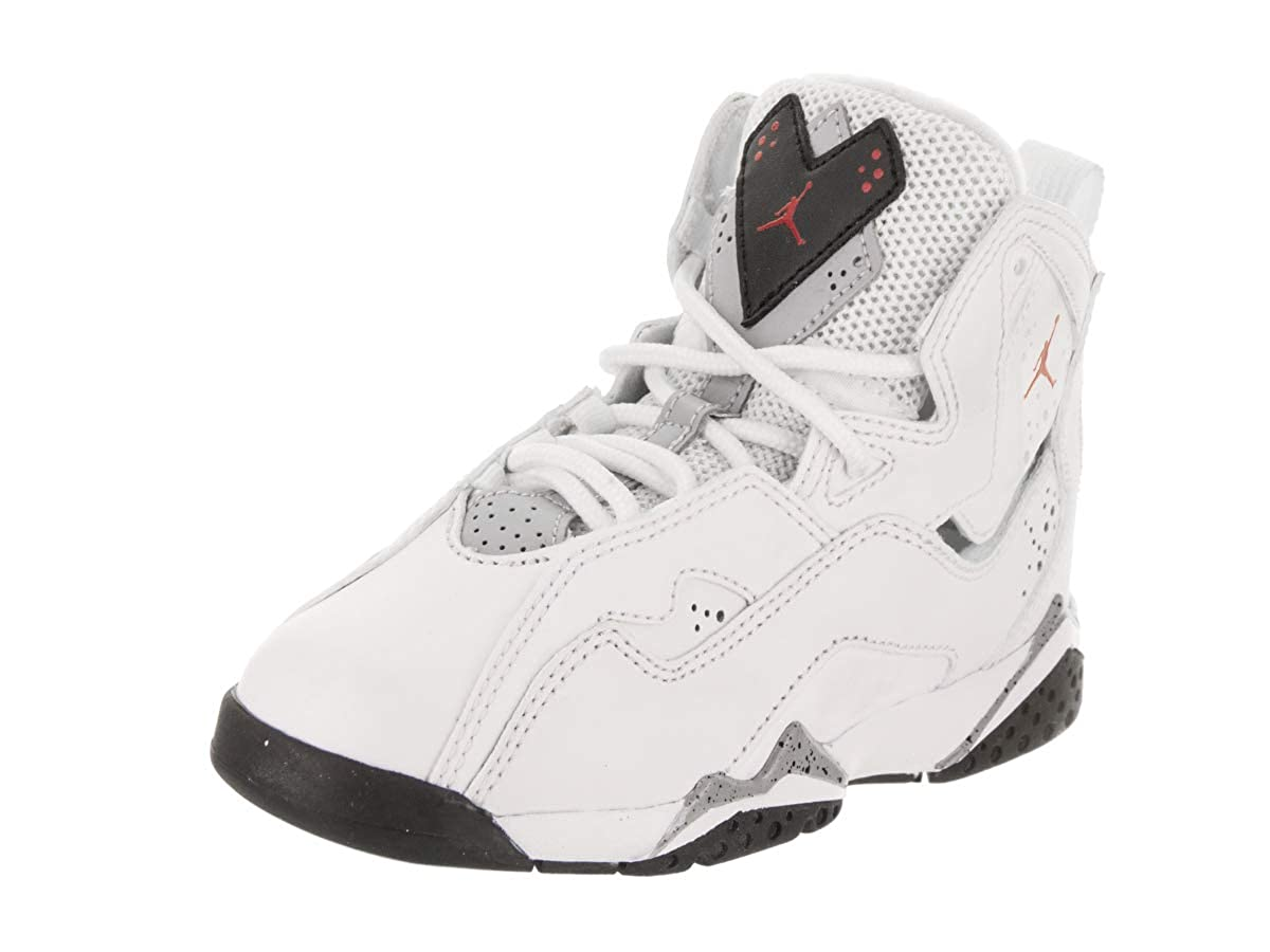 Amazon.com | Jordan Nike Boys True Flight Basketball Shoe (PS), White/Gym Red-Black-Wolf Grey 2.5Y | Basketball
