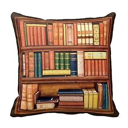 Book Shelf Design Literature Art Throw Pillow Case Cushion Cover Home Decor 18