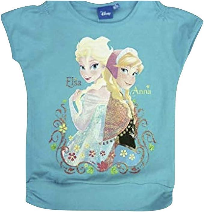 Frozen Mädchen  T-Shirt 122//128 OVP Motiv Flieder Eiskönigin Neu