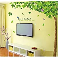 Decals Design 'Bestselling Leaves Tree' Wall Sticker (PVC Vinyl, 90 cm x 60 cm, Multicolour)