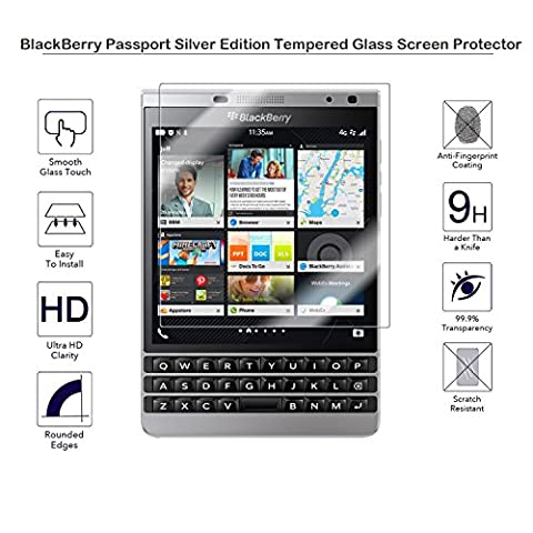 MOTONG Tempered Glass Screen Protector For BlackBerry Passport Silver Edition (Passport Silver (Blackberry Passport Glass)