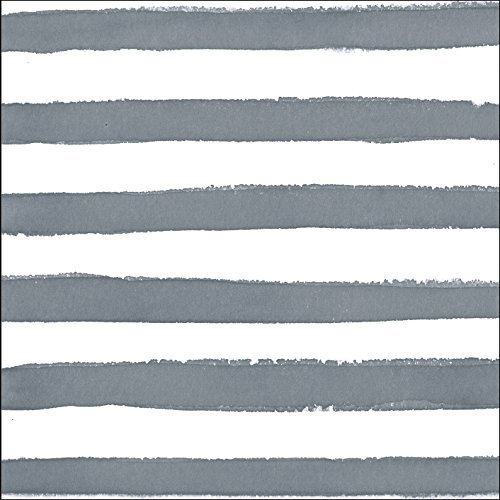 Creative Converting 24 Count Premium Patterned Beverage Napkins, Dotted and Striped, Platinum (Platinum Square Luncheon Plate)