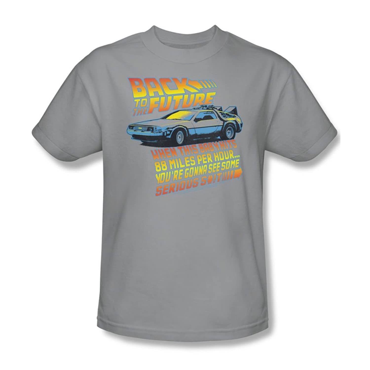 Back To The Future - Mens 88 Mph T-Shirt In Silver