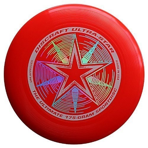 Discraft 175 Gram Ultra Star Sport Disc. Dark RED - Sport Frisbee All