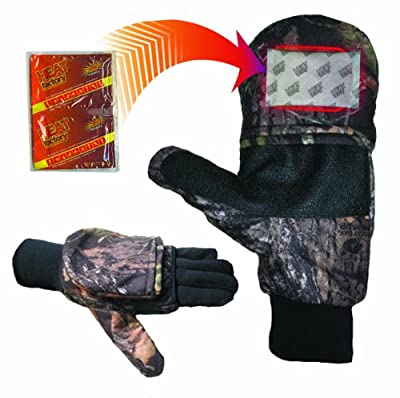 Heat Factory Pop-Top Mittens with Glove Liner, for use with Heat Factory Hand Warmers