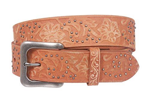 Embossed Studded Belt - Snap On 1 1/2