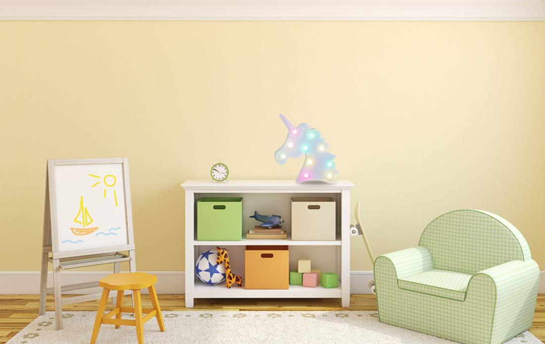AIZESI Unicorn Marquee Light Night Light Wall Room Decor,Desk Table Lamp,Kids Gift for Birthday Xmas Colorful Unicorn… 5