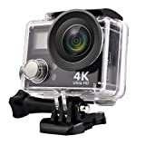 KINGEAR HD 4K WIFI Sports Action Camera Waterproof DV Camcorder with 2 Inch LCD Screen/2.4G Remote Control/2 Batteries/Desktop Charger, Travelling Bag Include Various Practical Accessories Action Cameras KINGEAR