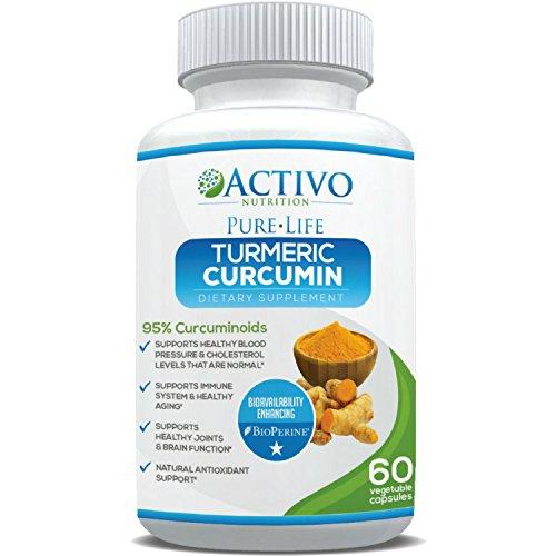 Organic Turmeric Curcumin Supplement with BioPerine® for Maximum Potency – 95% Curcuminoids – Easy Swallow 100% Veggie Capsules