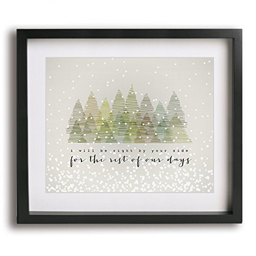 snow outside dave matthews band inspired lyric art print modern farmhouse style romantic