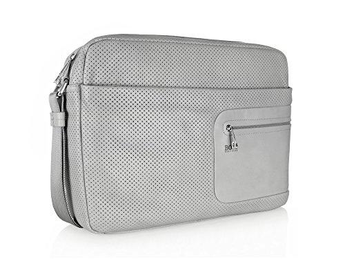 LASSI Hugo Boss Messenger-Bag, grau