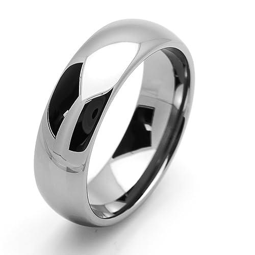 Pequeños Tesoros - 7MM Carburo De Tungsteno - Anillo De Matrimonio Hombres Mujeres Libre de cobalto
