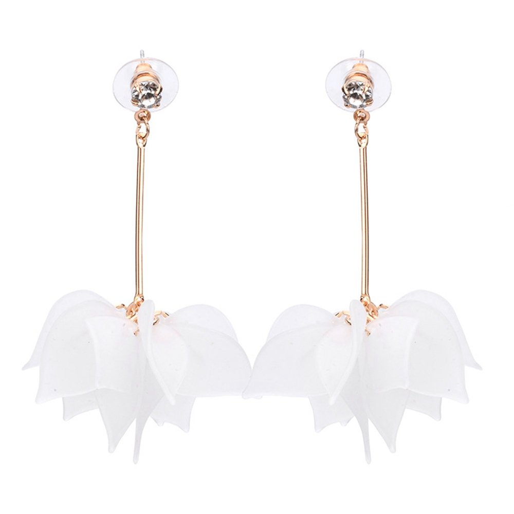 Natural Series Earrings For Young Girls CHOA Elegant Leaf Long Earrings