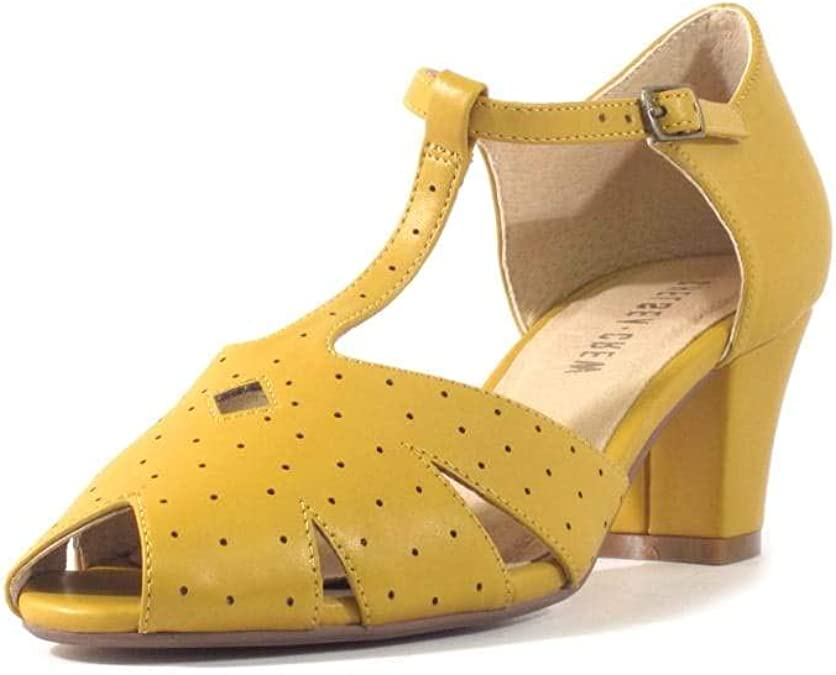 Vintage Sandals | Wedges, Espadrilles – 30s, 40s, 50s, 60s, 70s Chelsea Crew Nikki Womens Mary Jane Heels $69.99 AT vintagedancer.com