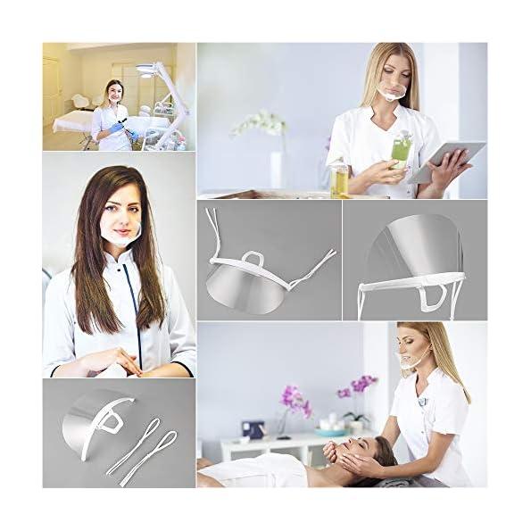 5-Stck-Mund-Gesichtsschutz-Anti-Saliva-aus-Kunststoff-Schutzschild-Gesichtsschild-Schutzvisier-Visier