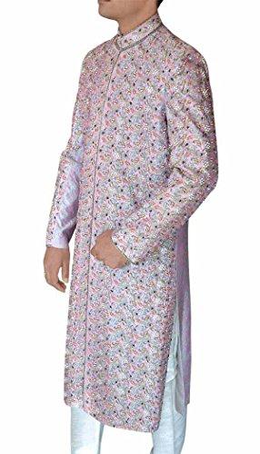 INMONARCH Mens Lavender Maharaja 2 Pc Sherwani Ethnic SH378S36 36 Short Lavender by INMONARCH