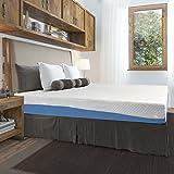 Olee Sleep 10 Inch Gel Infused Layer Top Memory Foam Mattress Blue, Queen