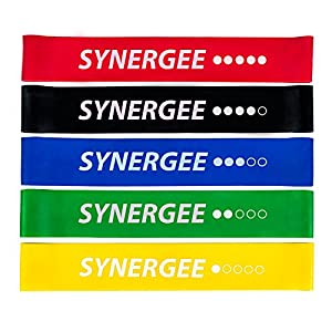 Exercise Fitness Resistance Band Mini Loop Bands That Perform Better When Working Out at Home or The Gym by Synergee