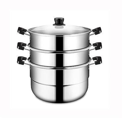 FGX Olla Vaporera,Cacerolas Para Cocinar Al Vapor,3 Capas ...