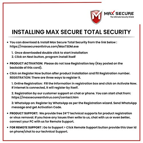 Max Secure Anti-Virus Plus with Ransomware Protection ( Windows ) - 1 PC 1 Year (Email Delivery in 2 Hours - No CD) 6