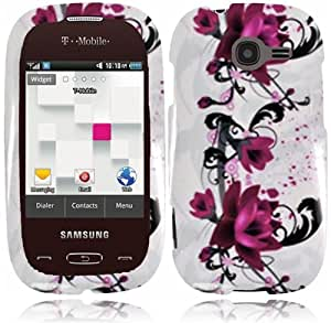 CY Graphic Design Cover Case For Samsung Gravity Q T289 (include a Free CYstore Stylus Pen) - Purple Lily