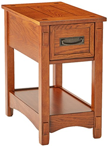 Ashley Furniture Signature Design - Breegin Chairside End Table - 1 Drawer - Contemporary - Brown (1 Drawer Side Table)