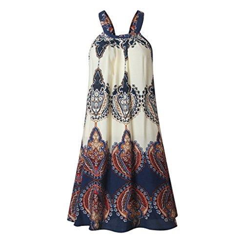 Mini S Manches Robes Sans xxl Cocktail Été Plage Casual Tunique Dress Femmes De Color Hibote A Blouse Robe 64w77A